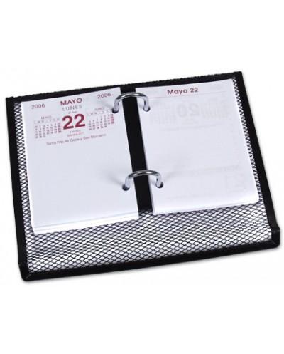 Portacalendario metalico q connect kf00827 negro 220x173x30 mm