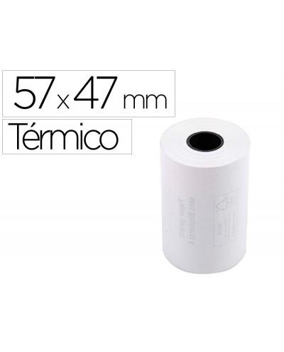 Rollo sumadora termico q connect 57 mm ancho x 47mm diametro para maquinas tarjetade creditos sin bisfenol a