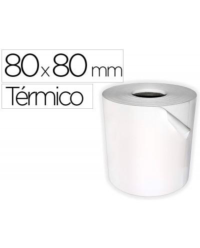 Rollo sumadora termico q connect 80 mm ancho x 80 mm diametro sin bisfenol a