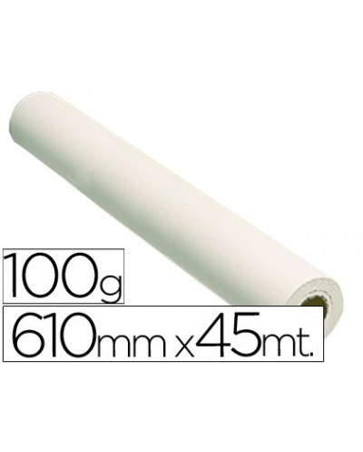 Papel reprografia grafic 100 grs para plotter papel estucado blanco mate 610x45 mts 1440 dpi
