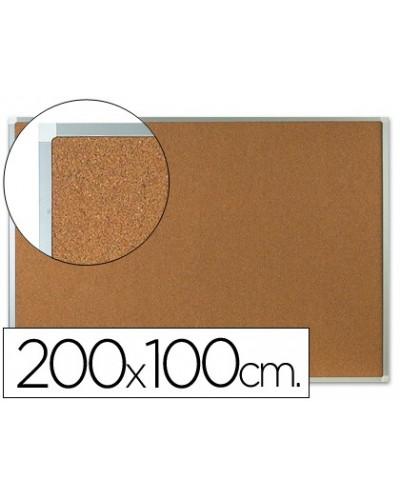 Pizarra corcho q connect marco de aluminio 200x100 cm extra corcho 5 mm