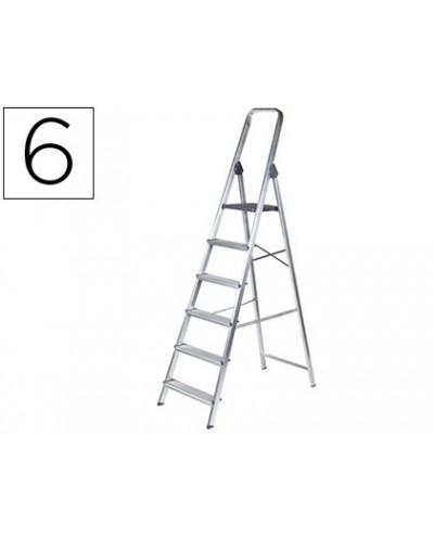 Escalera q connect de aluminio 6peldanos 1203x510x1895 mm peso maximo 150 kg en 131