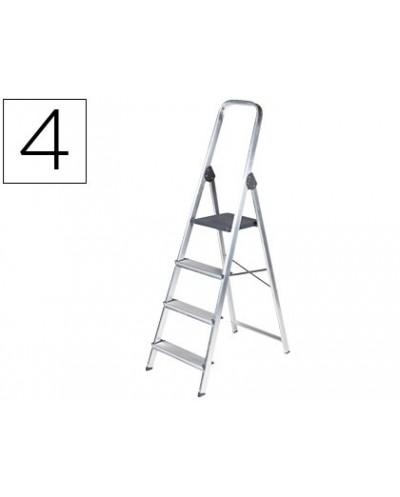 Escalera q connect de aluminio 4 peldanos 860x462x1470 mm peso maximo 150 kg en 131