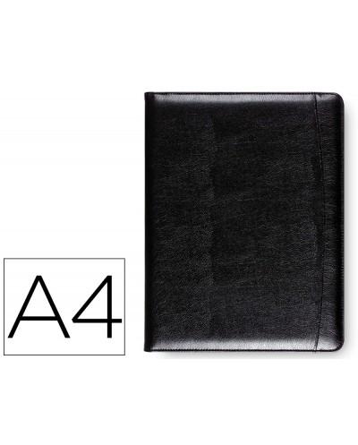 Carpeta portafolios 80 728k negra 320x250 mm sin cremallera sin asa con departmentos interiores