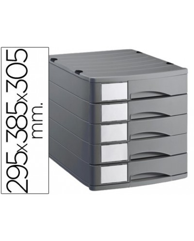 Fichero cajones de sobremesa offisys 1070 295x385x305cm 5 cajones gris