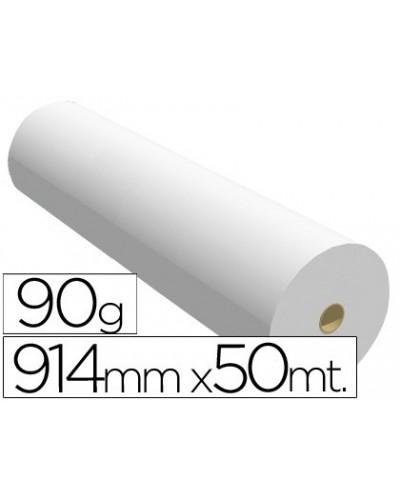 Papel reprografia para plotter 914mmx50mt 90gr impresion ink jet