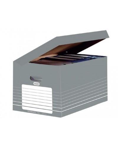 Cajon elba carton color gris para 5 cajas archivo definitivo 345x450x280mm