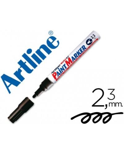 Rotulador artline marcador permanente ek 400 xf negro punta redonda 23 mm metal caucho y plastico