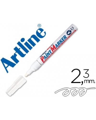 Rotulador artline marcador permanente ek 400 xf blanco punta redonda 23 mm metal caucho y plastico