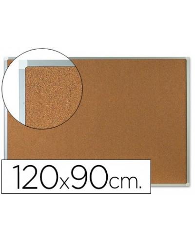 Pizarra corcho q connect marco de aluminio 120x90 cm