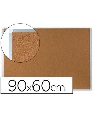 Pizarra corcho q connect marco de aluminio 90x60 cm