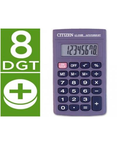 Calculadora citizen bolsillo lc 310 ii 8 digitos