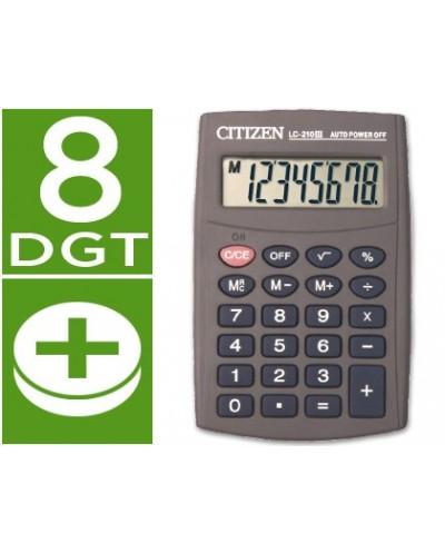 Calculadora citizen bolsillo lc 210 ii 8 digitos
