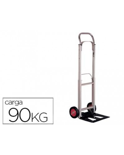 Carretilla portapaquetes con ruedas plegable en aluminio carga de 90 kg 1110x390x410 mm