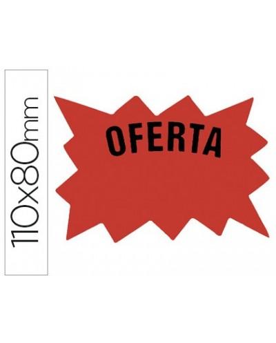 Cartel etiqueta marcaprecios cartulina rojo fluorescente bolsa de 50 etiquetas tamano 110x80 mm