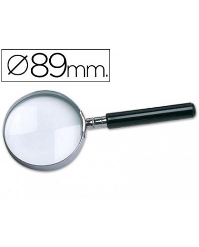 Lupa q connect cristal aro metalico mango plastico negro 90mm