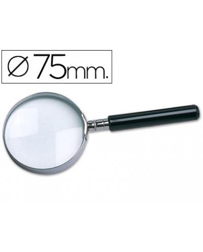 Lupa q connect cristal aro metalico mango plastico negro 75mm