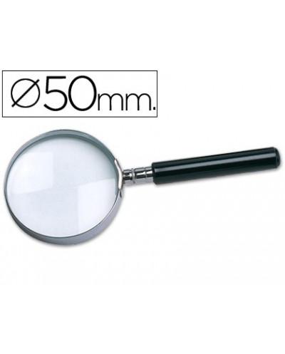 Lupa q connect cristal aro metalico mango negro plastico 50mm