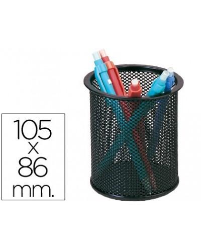 Cubilete portalapices q connect metal rejilla negro medida diametro 86 altura 105