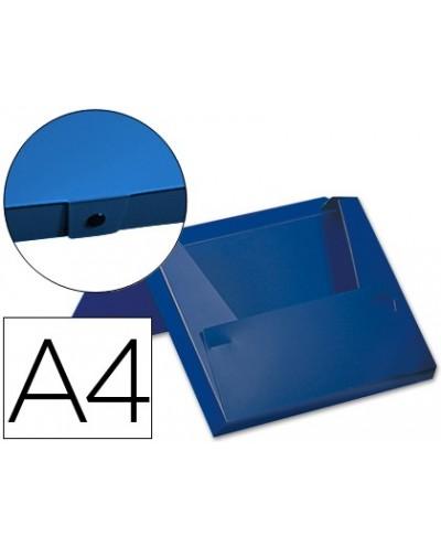Carpeta beautone portadocumentos broche 32522 polipropileno din a4 azul lomo rigido de 60 mm