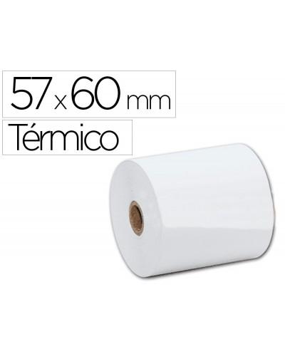 Rollo sumadora termico q connect 57 mm ancho x 60 mm diametro sin bisfenol a