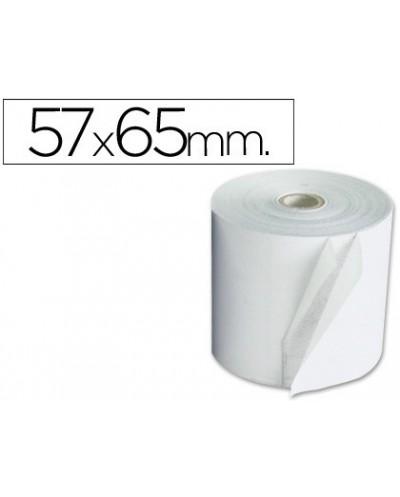 Rollo sumadora electro 57 mm ancho x 65 mm diametro copiativo con dos hojas sin bisfenol a