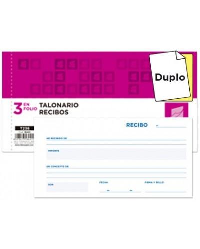Talonario liderpapel recibos 3 fº original y copia t236 sin matriz