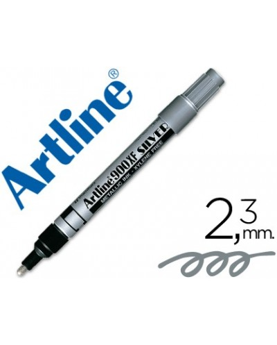 Rotulador artline marcador permanente tinta metalica ek 900 plata punta redonda 23 mm