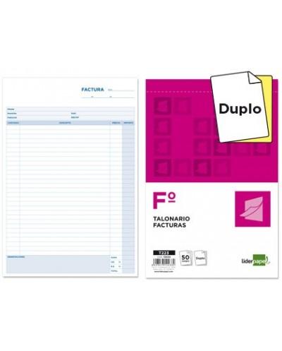 Talonario liderpapel facturas folio original y copia t223 con iva