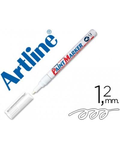 Rotulador artline marcador permanente ek 440 xf blanco punta redonda 12 mm metal caucho y plastico
