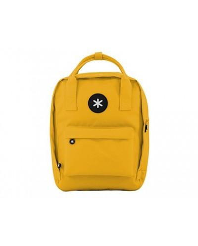 Cartera antartik mochila 2 asas y bolsillos exteriores amarillo 300x115x390 mm