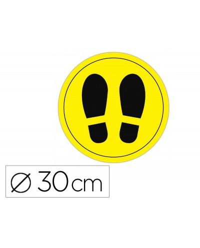 Circulo de senalizacion adhesivo apli para suelo pvc 100 mc pies color amarillo negro diametro 30 cm