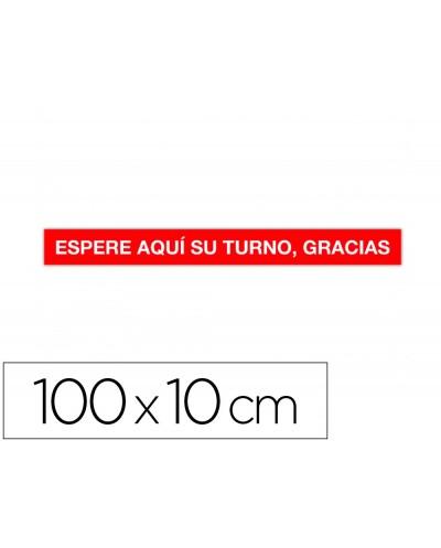 Cinta de senalizacion adhesiva apli espere su turno 100 x 10 cm