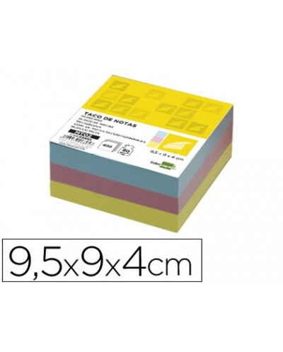 Recambio liderpapel multitaco colores tamano 95x90x40 mm