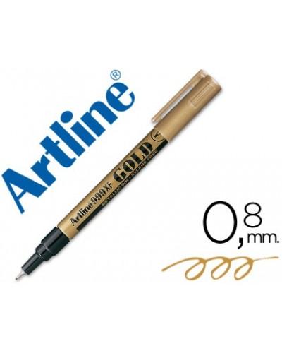 Rotulador artline marcador permanente tinta metalica ek 999 oro punta redonda 08 mm