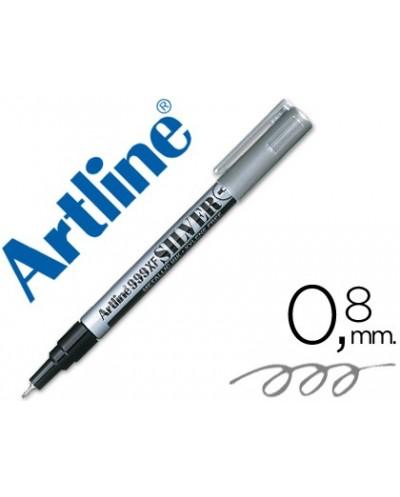 Rotulador artline marcador permanente tinta metalica ek 999 plata punta redonda 08 mm