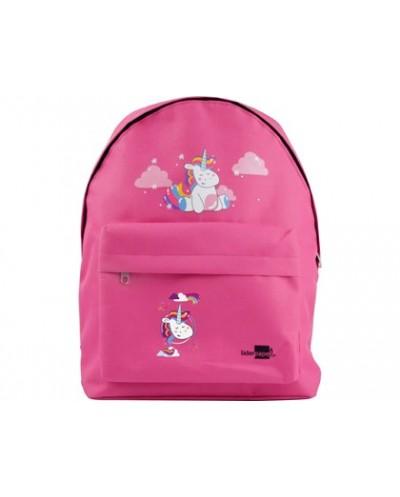 Cartera escolar liderpapel mochila unicornio color rosa 380x280x120mm