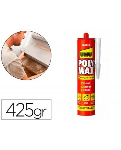 Adhesivo de montaje uhu poly max express blanco cartucho de 425 gr
