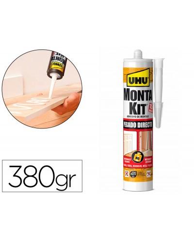Adhesivo de montaje uhu montakit pegado directo cartucho 380 gr