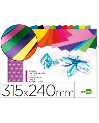 Bloc trabajos manuales liderpapel charol 240x315mm 10hojas colores surtidos