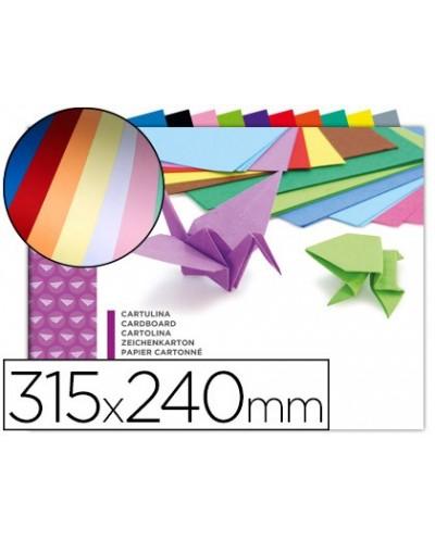 Bloc trabajos manuales cartulina 240x315mm 10 hojas colores surtidos