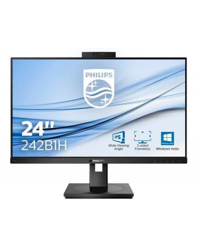Monitor philips 242b1h 238 16 9 ips 1920 px regulable en altura con camara web cam integrada color negro