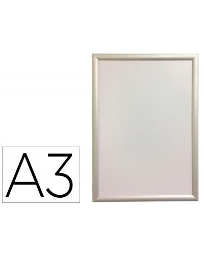 Marco porta anuncios q connect din a3 marco de aluminio 327x45x12 cm