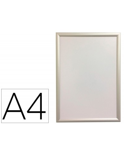 Marco porta anuncios q connect din a4 marco de aluminio 24x327x12 cm