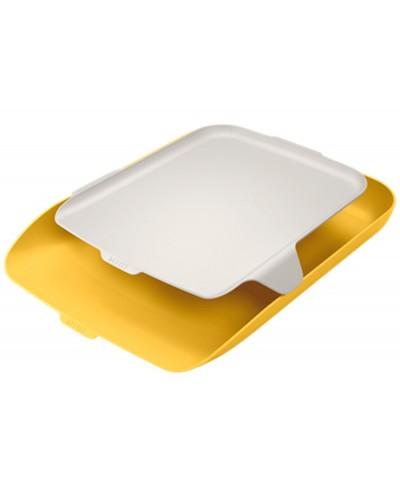 Bandeja organizadora plastico leitz cosy amarillo