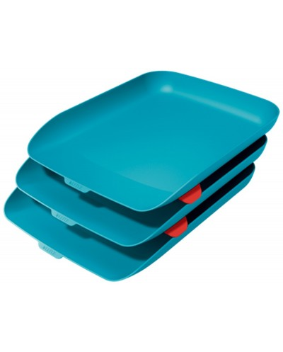 Bandeja sobremesa plastico leitz cosy set de 3 unidades azul