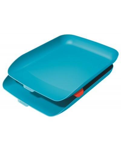 Bandeja sobremesa plastico leitz cosy set de 2 unidades azul