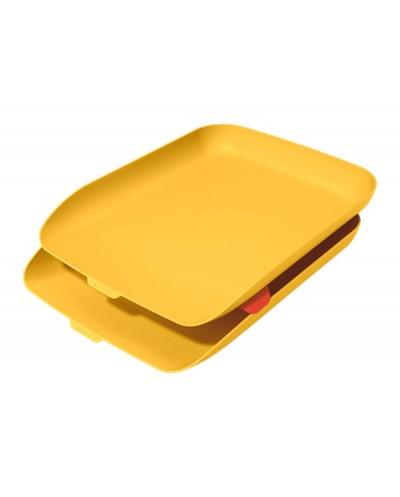 Bandeja sobremesa plastico leitz cosy set de 2 unidades amarillo