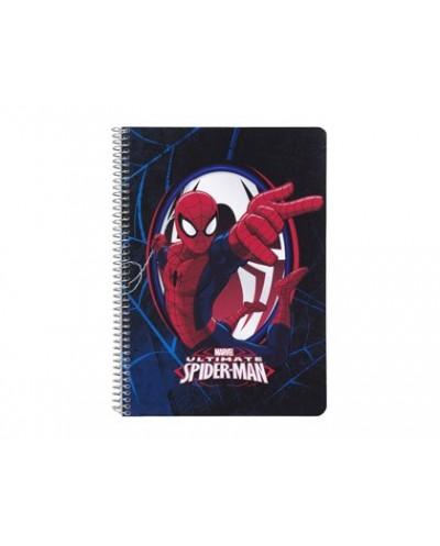Bloc espiral safta tapa extradura cuarto 80 hojas cuadro 4 mm 60 gr ultimate spiderman