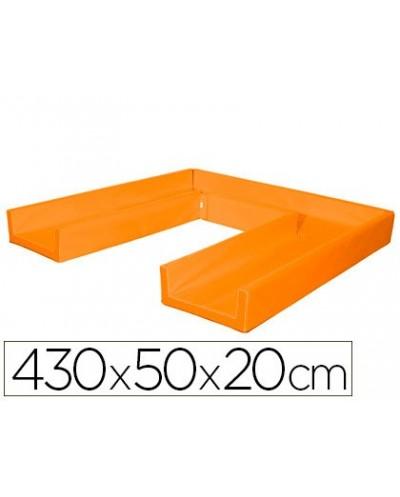 Circuito modular de gateo sumo didactic 430x50x20 cm naranja